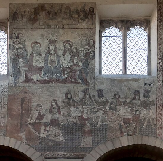 Pickering church, Yorkshire,UK ( Wall painting 2) by jasminewang