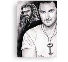 Richard Armitage staring as Thorin Oakenshield Canvas Print