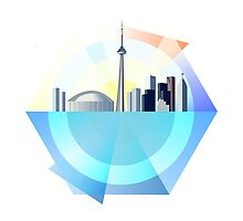 Graphical Toronto Skyline by emilyauban