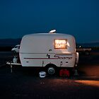 Lonely Death Valley Camping Trailer by lightplay21