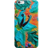 BLOOMING BEAUTIFUL 2 - Modern Abstract Acrylic Tropical Floral Painting, Home Decor Gift for Her iPhone Case/Skin