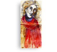 Red Scarf Canvas Print