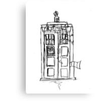 The Christmas TARDIS Canvas Print