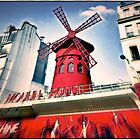 Le Moulin Rouge, Paris, France.  by Forrest Harrison Gerke
