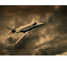 Jet Through The Clouds  Photographic Print