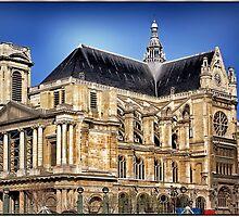 Saint Eustache, Paris. by Forrest Harrison Gerke