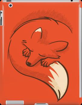 The fox is sleeping by japu