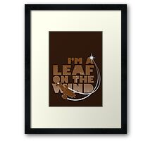 Leaf on the Wind - Browncoats Edition Framed Print