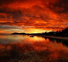 Mana Island Sunset by Anthony Cornelius