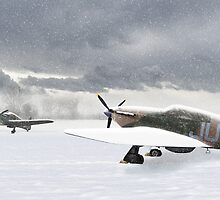 Hurricanes in the snow by Gary Eason + Flight Artworks