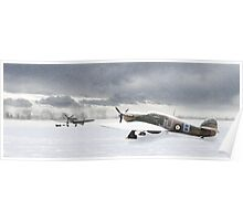 Hurricanes in the snow Poster