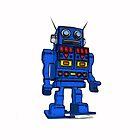 Blu Bot White by LawrenceA