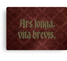 Ars longa, vita brevis - Art is long, life is short Canvas Print