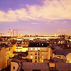 Paris rooftops at night, France  by hpostant