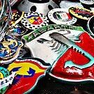 Vintage automotive metal badges by htrdesigns