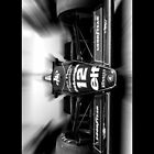 Ayrton Senna - Lotus F1 (black & white) by Tom Clancy