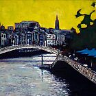 Hapenny Bridge & Boardwalk, Dublin by eolai