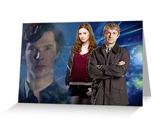 Sherlock,Amy and John Greeting Card