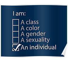 I am an individual. Poster
