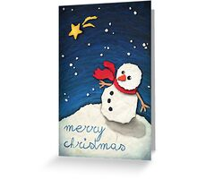 Paper Snowman Greeting Card