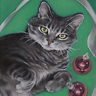 Christmas Kitty by Pam Humbargar