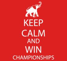 Keep Calm and win National Championships white T-Shirt