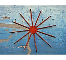 Red Spokes Photographic Print