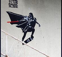 Darth Vader Skateboarding by blouh