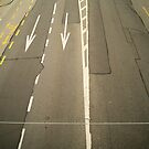 road lanes from above  by hpostant