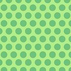 Green Polka Dot iPad Case by Louise Parton