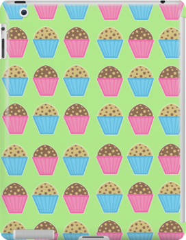 Muffins iPad Case by Louise Parton