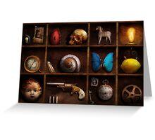 Steampunk - A box of curiosities Greeting Card