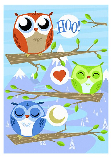 Owl Hang Out by AtomicRocket