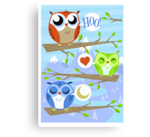Owl Hang Out Canvas Print