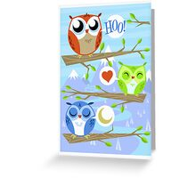 Owl Hang Out Greeting Card