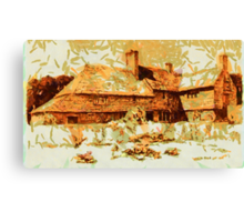 Beautiful Britain - A Cottage in Crawley, Sussex in 1906 Canvas Print