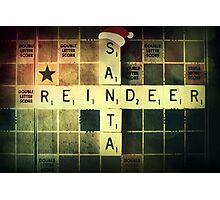 Santa Scrabble Christmas Card Photographic Print