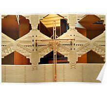 Cross, Frank Lloyd Wright Designed Chapel, Florida Southern College, Lakeland, Florida Poster