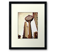 Flatiron Building and 5th Avenue Clock - New York City Framed Print