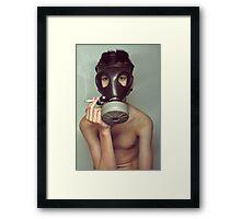 war smoke Framed Print