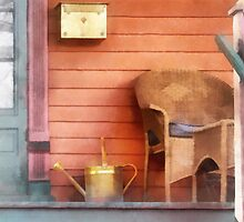 Porch With Brass Watering Can by Susan Savad