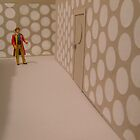6th Doctor, Tardis corridor. by twohearts2