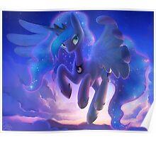 Princess Luna in the Sky Poster