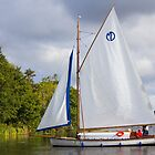 Sailboat on Norfolk Broads by ChrisChallenger