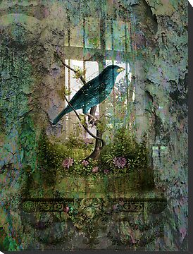 Indoor Garden with Bird by Sarah Vernon