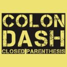 Colon, Dash, Closed Parenthesis (black) by glassCurtain