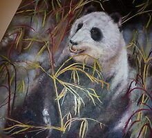 Panda Bear - how to paint by JeffeeArt4u