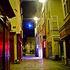 Nimes Back Street at Night by magicaltrails