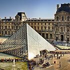 Louvre Pyramid, Paris by Forrest Harrison Gerke