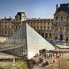 Louvre Pyramid, Paris by Forrest Harrison Gerke